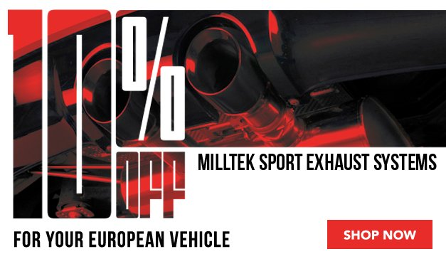 General - Win a Trip to the Nurburgring + 10% Off Milltek Sport Exhaust Systems