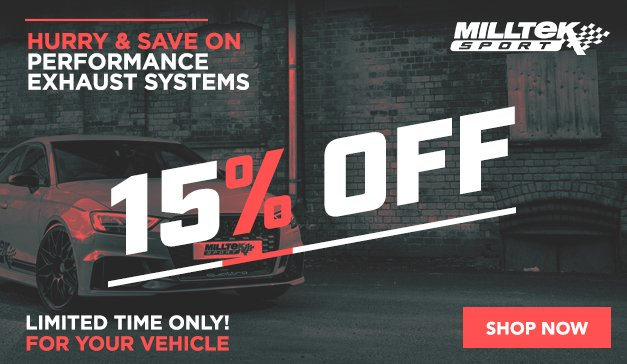 General -Final Hours - 10% Off MILLTEK Sport Exhaust