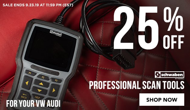 Audi/VW - 25% Off VW/Audi Professional Scan Tools