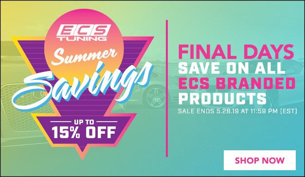 Catch All - Summer Savings Up to 15% Off Everything ECS Branded