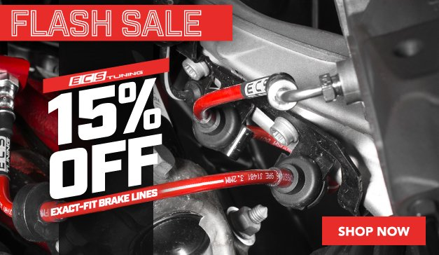 Flash Sale - 15% Off ECS Tuning Exact-Fit Brake Lines
