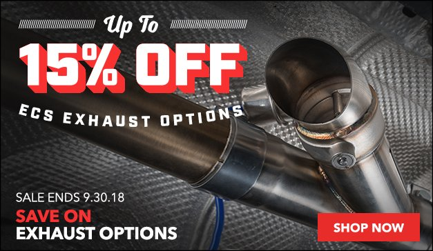 Up to 15% Off ECS Exhaust Options