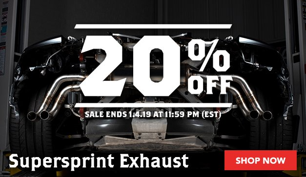 20% OFF SUPERSPRINT EXHAUSTS