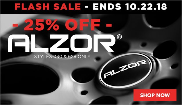 Flash Sale - 25% Off Alzor 628 and 030 Styles