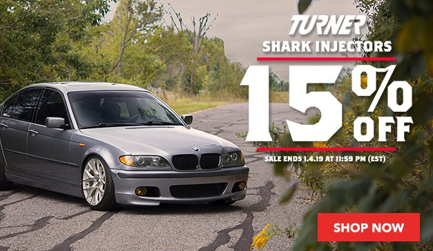 15% Off Turner Shark Injectors
