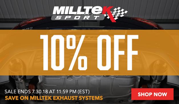 10% Off Milltek Exhaust Systems