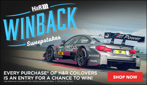 HR Coilover Winback Sweepstakes