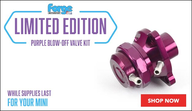 Mini - Forge Limited Edition Purple Premium Blow-Off Valve Kit