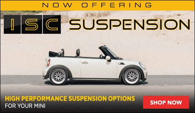 Now Offering - ISC Coilovers - MINI