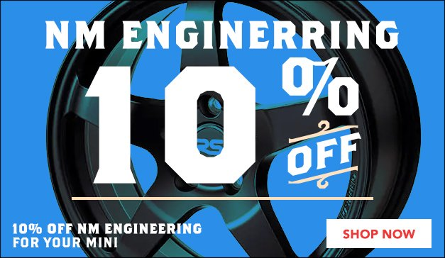 10% Off NM Engineering Performance Products for your MINI Cooper