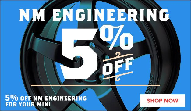 5% Off NM Engineering Performance Products for your MINI Cooper