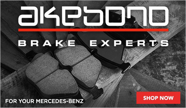 Akebono Brake Pads for your Mercedes-Benz