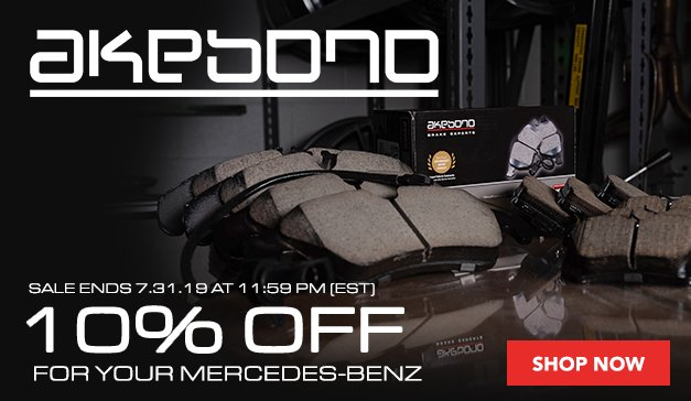 MERCEDES - 10% Off Akebono