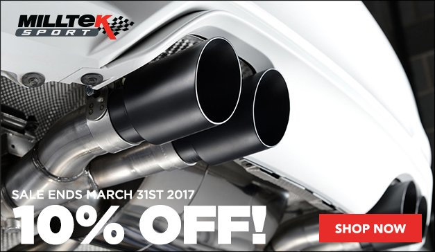 Milltek Sport Exhaust on Sale for your European Car