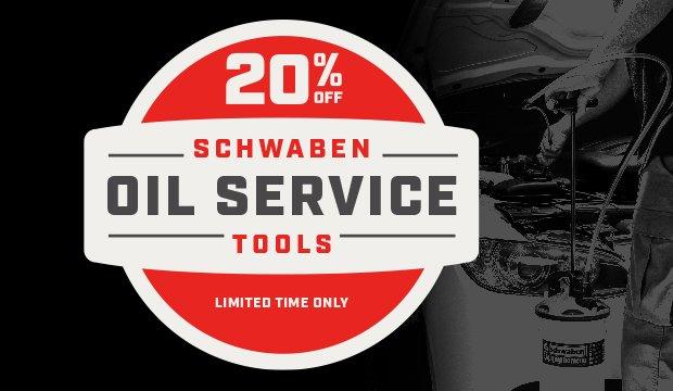 Schwaben Oil Service Tools 20% off - general
