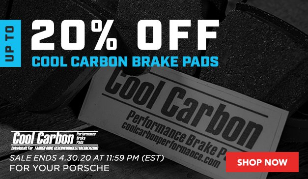 Porsche - Up to 20% Off Cool Carbon Brake Pads