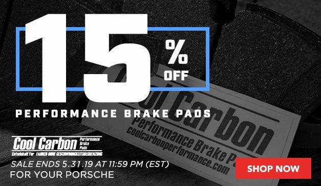 Porsche - 15% Off Cool Carbon Brake Pads