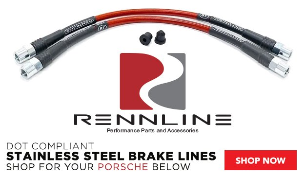 Porsche - New Rennline Braided Stainless Steel Brake Lines