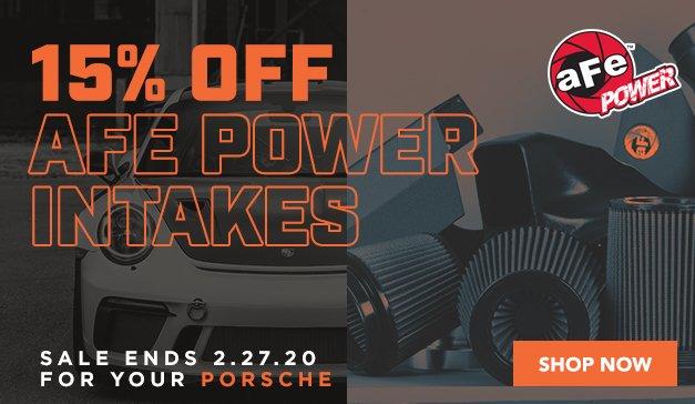 Porsche - 15% Off aFe Power Intakes & Exhaust