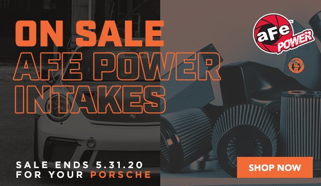 Porsche - 15% Off aFe Power Intakes & Exhaust
