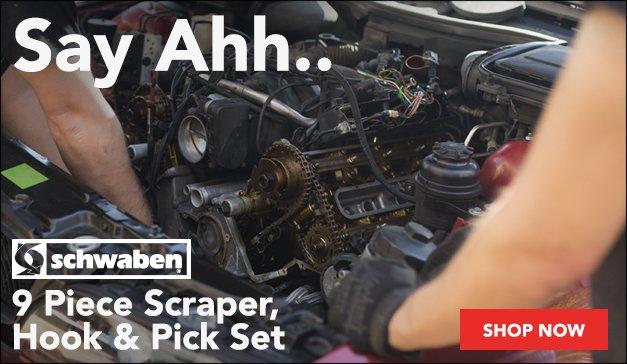 Schwaben 9 Piece Scraper, Hook And Pick Set