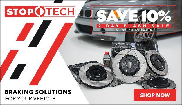 2 Day Flash Sale - 10% OFF  STOPTECH Brake Upgrades