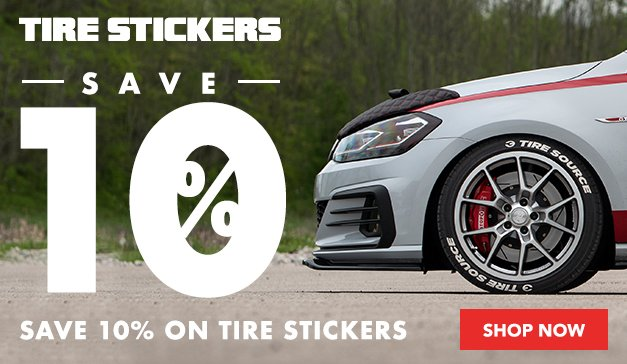 Tire Stickers 10% Off