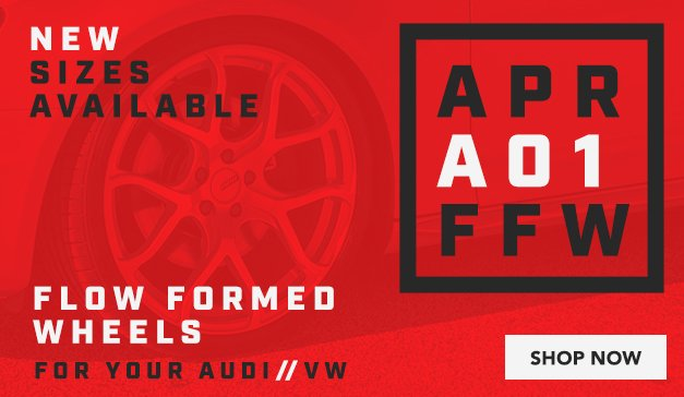 Audi/VW - New Sizes Available for APR A01 Flow Formed Wheels