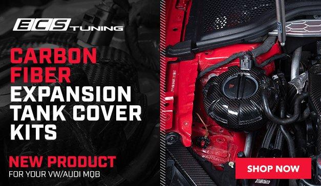 New ECS VW/Audi MQB Carbon Fiber Expansion Tank Cover Kits
