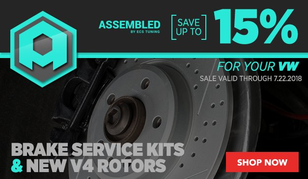 Assembled By ECS Brake Service Kits and New V4 Rotors VW