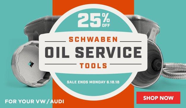 25% off Schwaben Oil Service Tools | Audi/VW