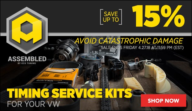 VW | Up to 15% Off Assembled By ECS Timing Service Kits
