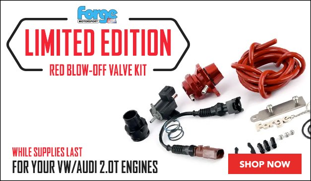 VW/Audi 20T - Limited Edition Forge Red Blow-Off Valve Kit