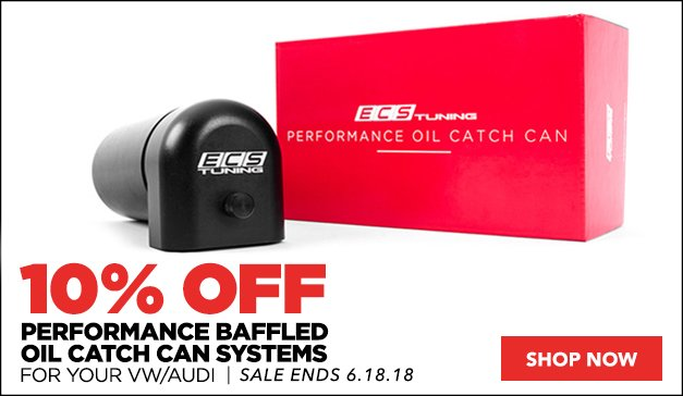10% Off ECS Performance Baffled Oil Catch Can Systems  | VW/Audi