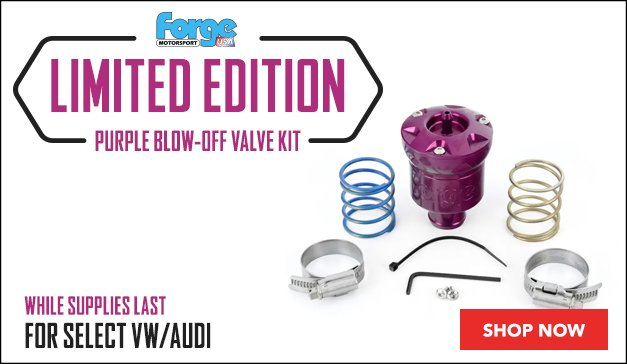 Select VW/Audi - Limited Edition Forge Purple Blow-Off Valve Kit