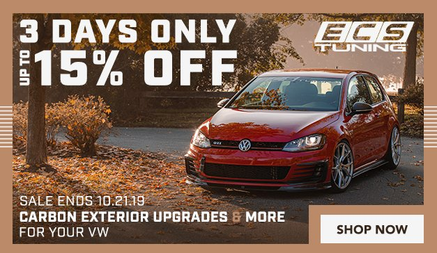 VW - 3 Days Only! Up to 15% Off ECS Carbon Exterior Upgrades and More