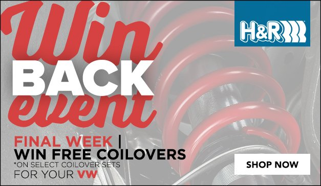 FINAL WEEK – H&R Coilover Winback Event - You Could Win Your Purchase Back!