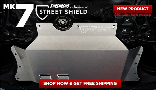 MK7 Golf/GTI/R ECS Street Shield Aluminum Skid Plat