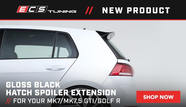 VW - New ECS MK7/MK7.5 GTI/Golf R Gloss Black Hatch Spoiler