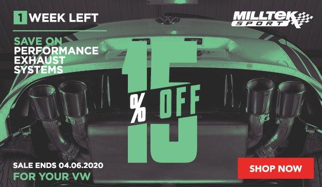 VW - 10% Off On Milltek Sport Exhaust Systems