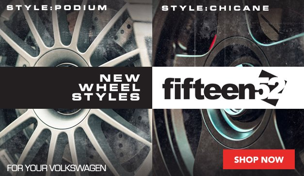 VW - New Wheel Styles from fifteen52 Available At ECS