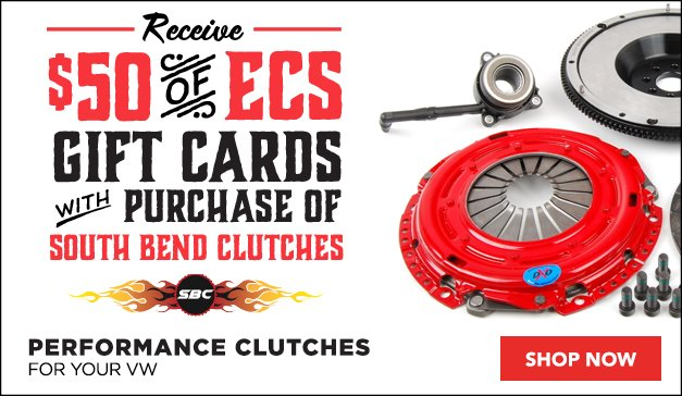 Receive ECS Gift Cards with Purchase of South Bend Clutches for your VW