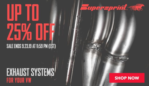 VW - Up to 20% Off Supersprint Exhaust Systems