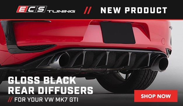 VW - New ECS MK7 GTI Gloss Black Rear Diffuser