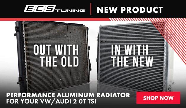 VW/AUDI - NEW ECS VW/Audi 2.0T TSI Performance Aluminum Radiator