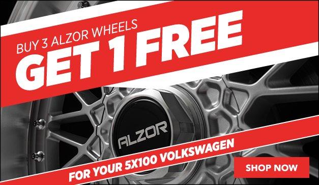Get 1 Free When you Buy 3 Alzor Wheels! - 5x100 VW