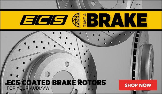 ECS Coated Brake Rotors   Audi and VW