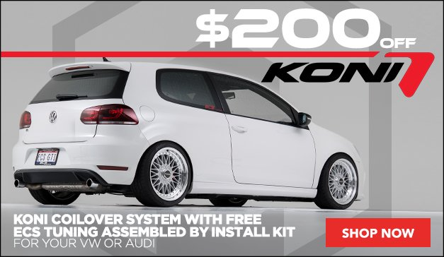 $200 Off Koni 1150 Series Coilover Kit with Free Install Kit