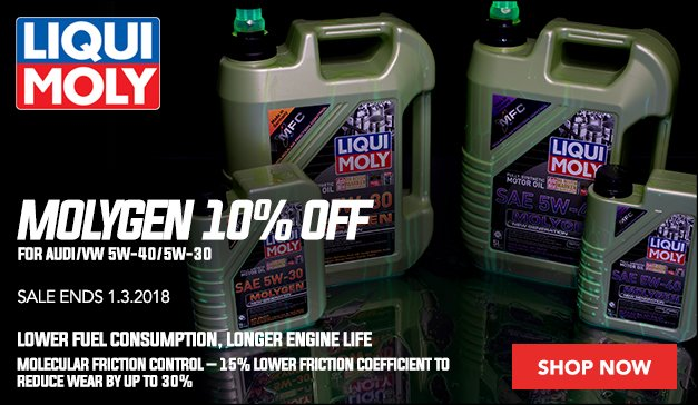 10% Off Molygen by Liqui-Moly for you VW/Audi