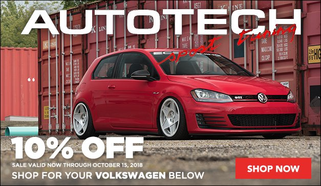 10% Off Select Autotech for your Volkswagen